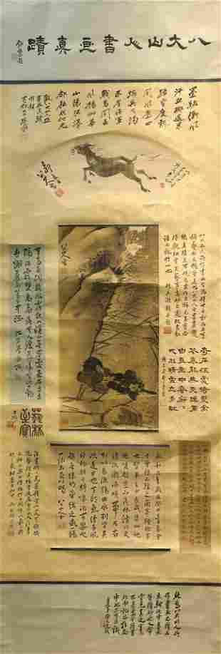 Ink Painting of Landscape from BaDaShanRen