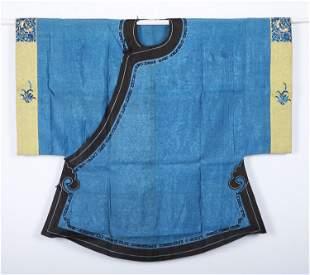 A Bleu-ground 'Floral' Silk Lady's Robe
