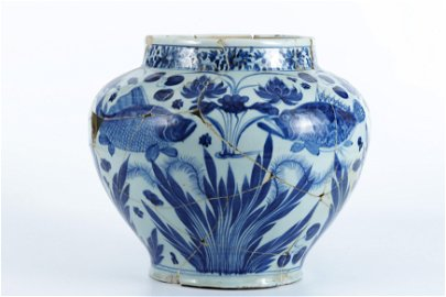 A Bleu-and-White 'Fishes' Jar