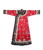 A Red-ground 'Floral and butterflies' Lady's Robe