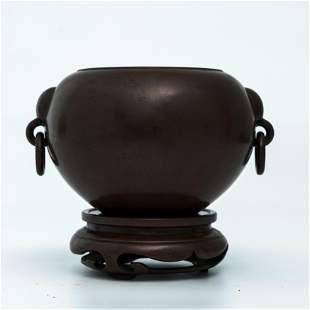 A Bronze Double handles Incense Burner