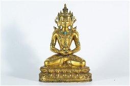 A Tibetan Gilt-bronze Figure of Amitayus