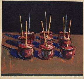Wayne Thiebaud, Candy Apples, 1987