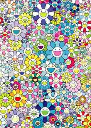 Takashi Murakami, Champagne Supernova: Blue, 2013