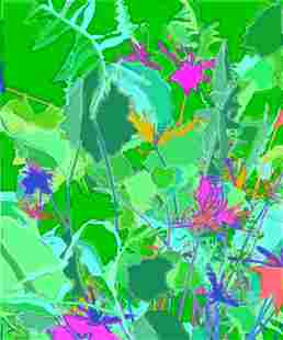 Untitled # 050106 (Green) by Harold Cohen