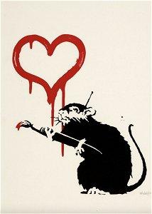 Love Rat by Banksy