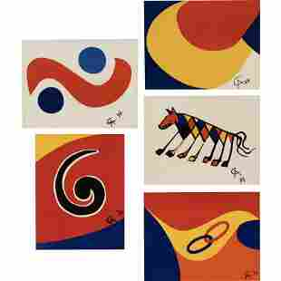 Flying Colors (the complete set) by Alexander Calder