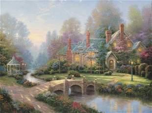 Lamplight Bridge, Lamplight Lane V by Thomas Kinkade