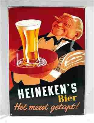 Dutch enamel sign Heineken's bier - het meest getapt