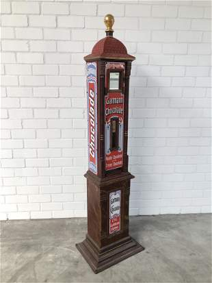 Original 1905 Gartmann Chocolate Vending Machine