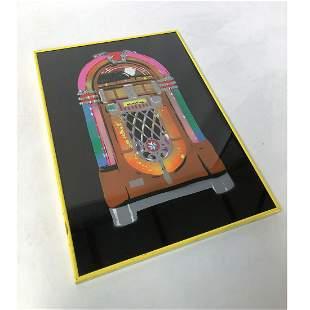 Spray painted Wurlitzer 1015 Jukebox Artwork in Frame