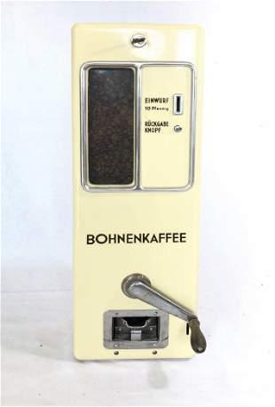 1961 German Ground Coffee Wall Vending Machine