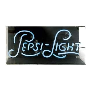 Original Pepsi-Light Neon Sign in Acrylic Display Case