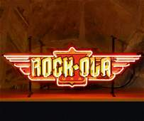 New Rock-Ola Logo Neon Sign with Backplate
