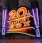 New 20th Century Fox Neon Sign with Backplate