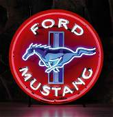 New Ford Mustang Neon Sign with Backplate