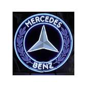 New Mercedes-Benz Logo Neon Sign with Backplate