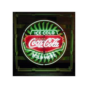 New Coca-Cola Ice Cold Neon Sign with Backplate