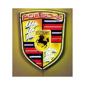 New Large Porsche Logo Neon Sign with Backplate
