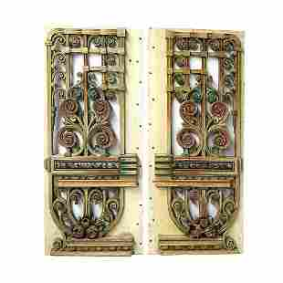 A Set of Two Original Th. Mortier Organ Side Panels