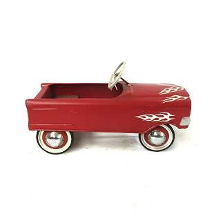 Red Hot Rod Children's Metal Pedal Car