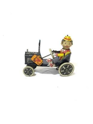 Tin Toy MARX 4 Wheels No Brakes