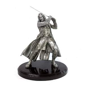 """NECA Lord of The Rings 24"""" Aragorn Fine Pewter Statue"""
