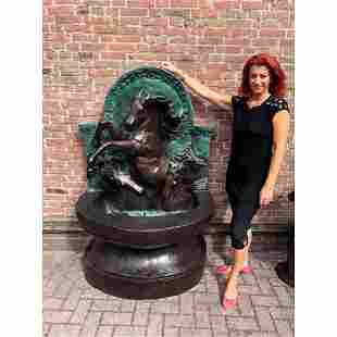 Large Bronze Horse Statue/Fountain