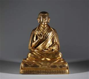 Qing Dynasty - Gilt Bronze Statue of Guanyin Buddha