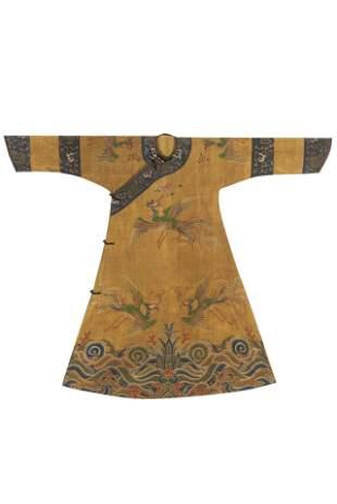 Qing Dynasty - Royal-made Silk Phoenix Robe