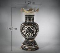Song Dynasty - Cizhou Kiln Flower Kuikou Zun