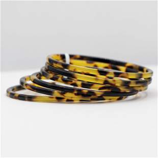 Vintage Leopard Print Bakelite Bracelets