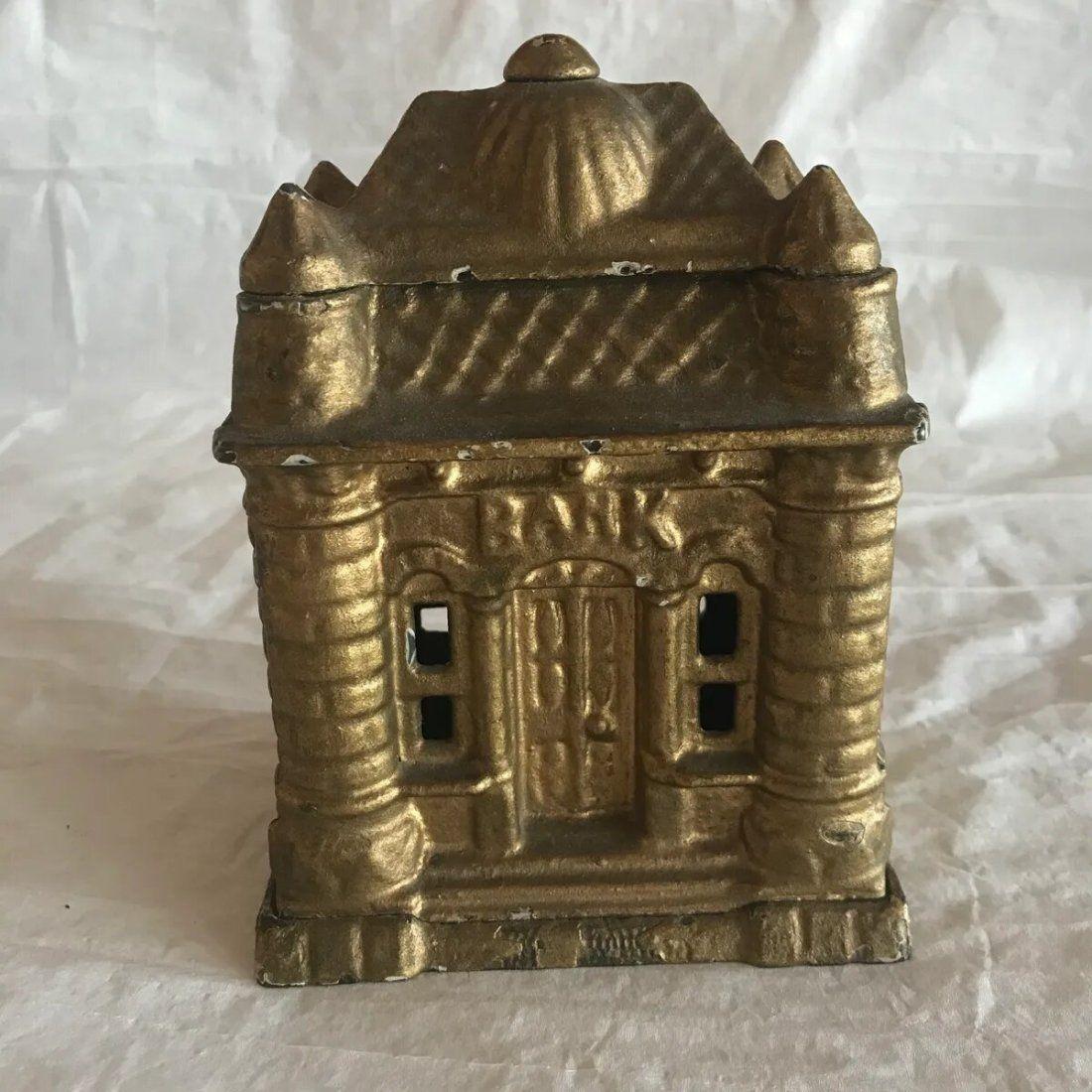 Cast Iron Still Bank of Building