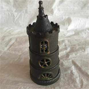 Cast Iron Bank Columbia Tower Nice Condition