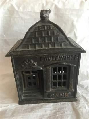Cast Iron Homesavings Bank