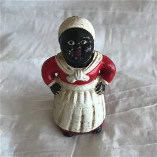 Early Black Memorabilia Still.Cast Iron Bank