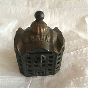 Antique Cast Iron Still Bank of Bank