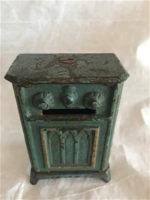 Antique Cast Iron Still Radio Bank