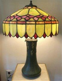 Arts & Craft Period Signed Grueby Lamp