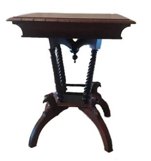 Cherry Parlor Table with Eagles