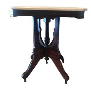 Marble Top Walnut Table 1870