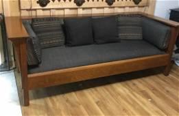 Mission Oak Even Arm Stickley Settle Sofa (Manlius)