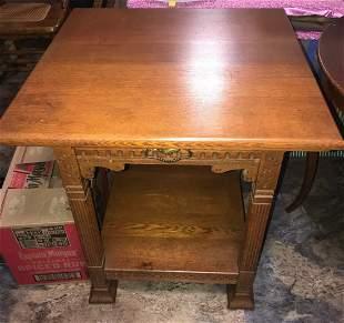1890's Oak Parlor Table