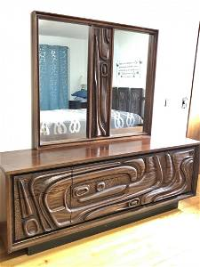 Oceanic Mid Century 4 Piece Bedroom Set by Pulaski