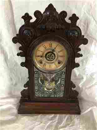 Walnut Gingerbread Shelf Clock Circa 1870