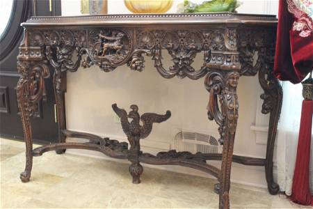 Carved Hallway Table