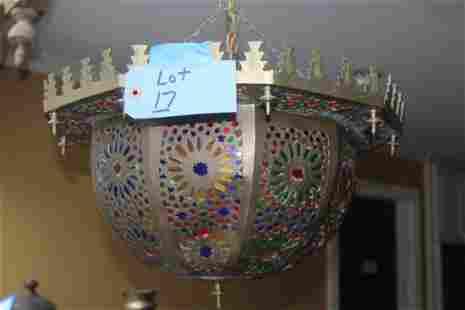 Pierced brass light