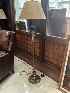 """Pair of Brass Floor Lamps 60"""" t"""