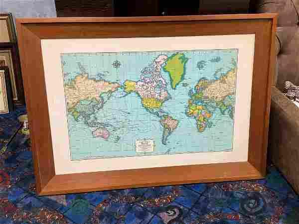 Framed map