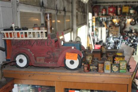 Wood Fire Truck, tins